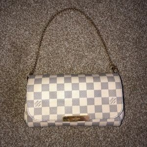 Favorite PM Damier Azur Canvas Cross Body Bag